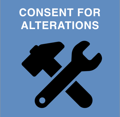 Consent for alterations
